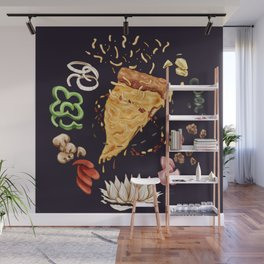 Pizza Mandala Wall Mural