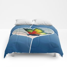 Butterfly Love - Blue Comforters