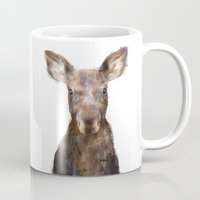 moose Mugs featuring Little Moose by Amy Hamilton