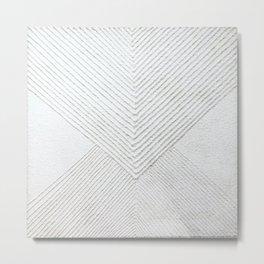 White Geometric Abstaction Metal Print