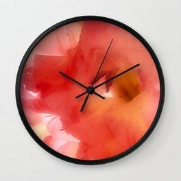 Soft Red Gladiola Wall Clock