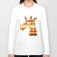 plaid Long Sleeve T-shirts featuring Plaid Unicorn by That's So Unicorny