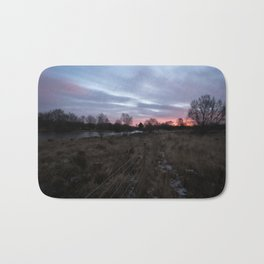 Winter Sunrise Over Chasewater Bath Mat