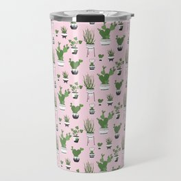 Cactus Love (in pink) Travel Mug