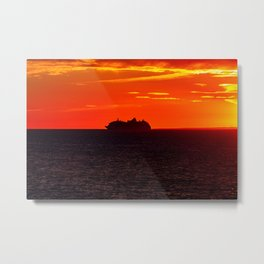 Boat on the Bay of Fundy. Canada. Metal Print