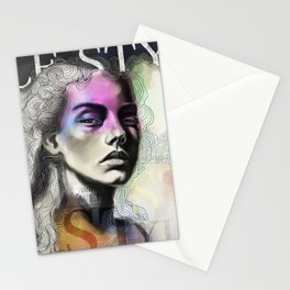Le Style Fashion Portrait Stationery Cards
