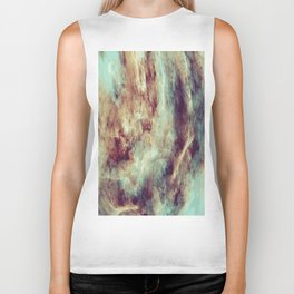 Multi-colored marble texture print.  Biker Tank