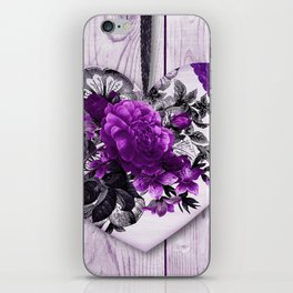 Violet heart | Coeur violet iPhone Skin