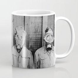 American, British, French, & German Gas Masks Coffee Mug
