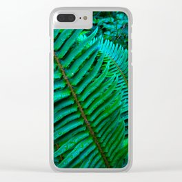 Flowing Ferns Clear iPhone Case