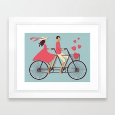 Love Couple Framed Art Print