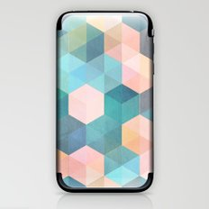 Child's Play 2 - hexagon pattern in soft blue, pink, peach & aqua iPhone & iPod Skin