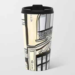 Baroque Architecture Drawing in Madrid Spain Travel Mug