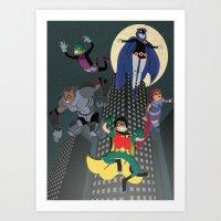 teen titans Art Prints featuring Teen Titans by Fuacka