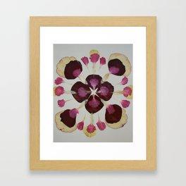 Pressed Petal Mandala Framed Art Print