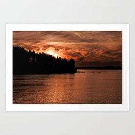 Red Sky At Night Photography Print Art Print