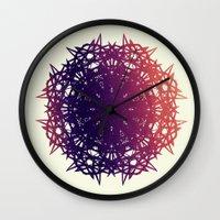 teeth Wall Clocks featuring Teeth by EmemArts