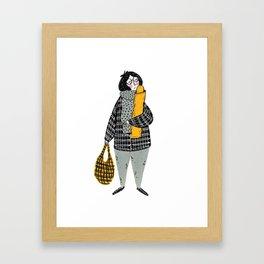 Moments in New York: Love Baguette Framed Art Print