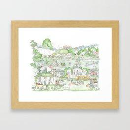 Suburban Farming Framed Art Print