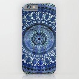 Vintage Blue Wash Mandala iPhone Case