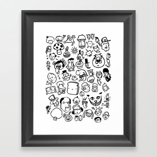 Comic Sans Framed Art Print