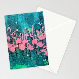 :: Flamingos Among Us :: Stationery Cards