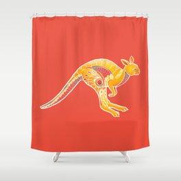 Mandala Kangaroo Shower Curtain