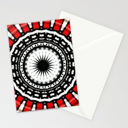 Red Black Fight Stationery Cards