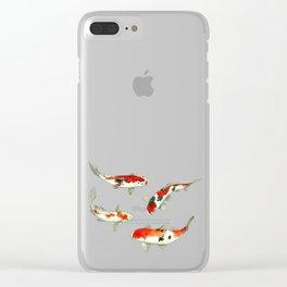 La ronde des carpes koi Clear iPhone Case