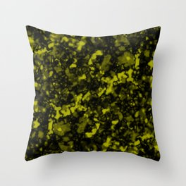 A gloomy cluster of yellow bodies on a dark background. Throw Pillow