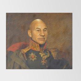 Sir Patrick Stewart - replaceface Throw Blanket