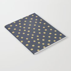 Gold Dots on Blue Notebook