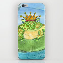 Frog King iPhone Skin