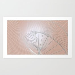 pattern of steel Art Print