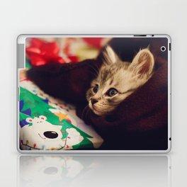 christmas kitten Laptop & iPad Skin