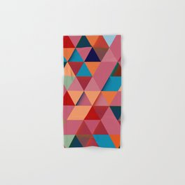 Colorfull abstract darker triangle pattern Hand & Bath Towel