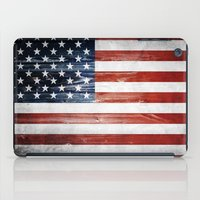 american flag iPad Cases featuring American flag by Nicklas Gustafsson