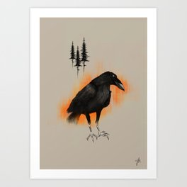 Raven from Blackforest Art Print
