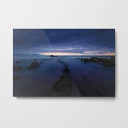 Long Exposure Shore (Color) Metal Print