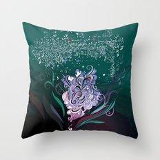 Wind tangle, blue Throw Pillow