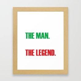 Nonno The Man, The Myth, The Legend - Italian Pride Shirt Framed Art Print