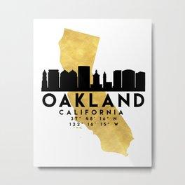 OAKLAND CALIFORNIA SILHOUETTE SKYLINE MAP ART Metal Print