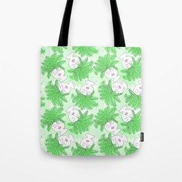 Fern-tastic Girls in Neon Green Tote Bag