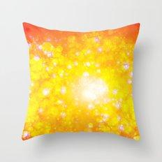 Shimmering Stars Orange Throw Pillow