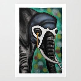 Elefante Don't Forget Art Print