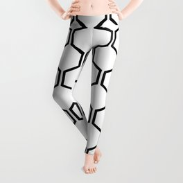 BEAUTY OF NATURE (bee , bees , black and white , no background) Leggings