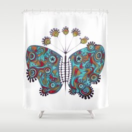 constellation butterfly (ORIGINAL SOLD). Shower Curtain