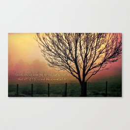 Sometimes we need the fog.... Canvas Print