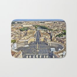 St Peter's Square in Rome, Italy Bath Mat