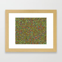 Paisley cucumbers pattern Framed Art Print